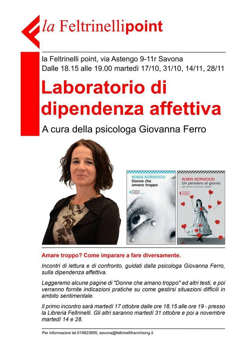 Laboratorio dipendenza affettiva psicologa Giovanna Ferro