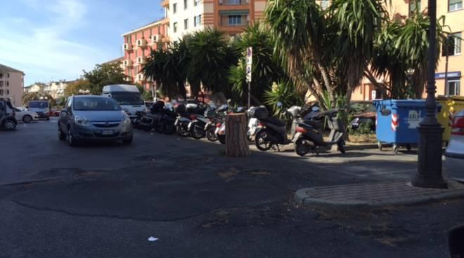 piazza Matteotti stazione Albenga