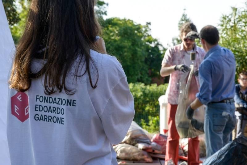Pulizia parchi Nervi Fondazione Garrone
