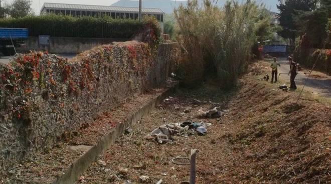 Pulizia rii Fasceo, Carendetta, Vallette Albenga