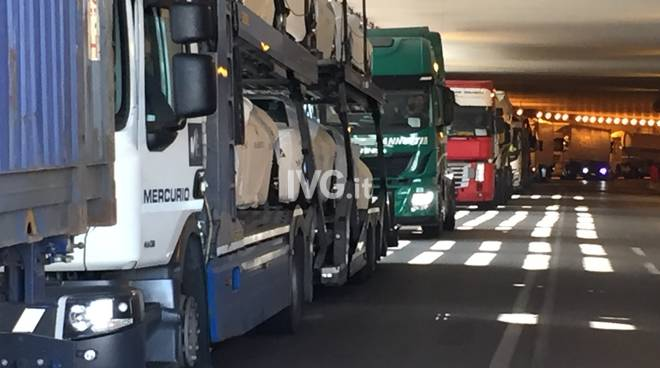 Sciopero camion savona