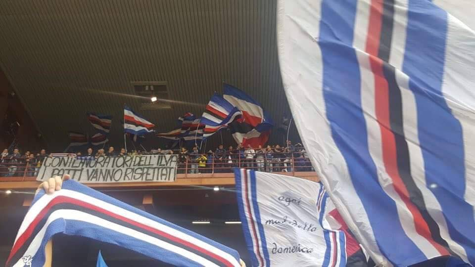 Striscione Ilva Sampdoria