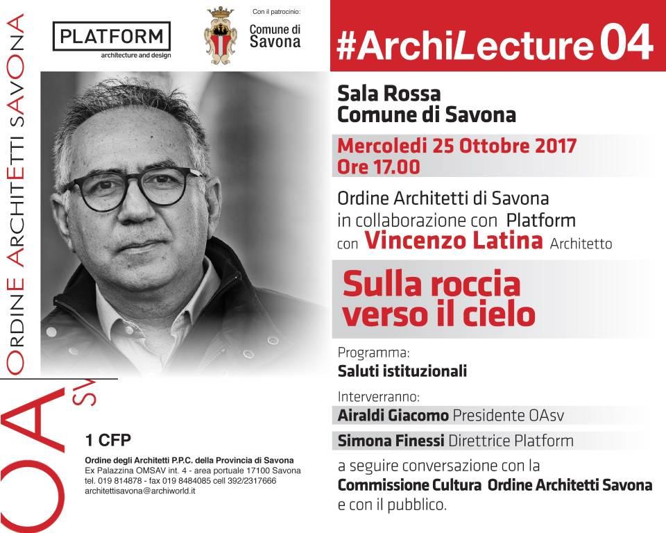 Sulla roccia verso il cielo conferenza architettura contemporanea