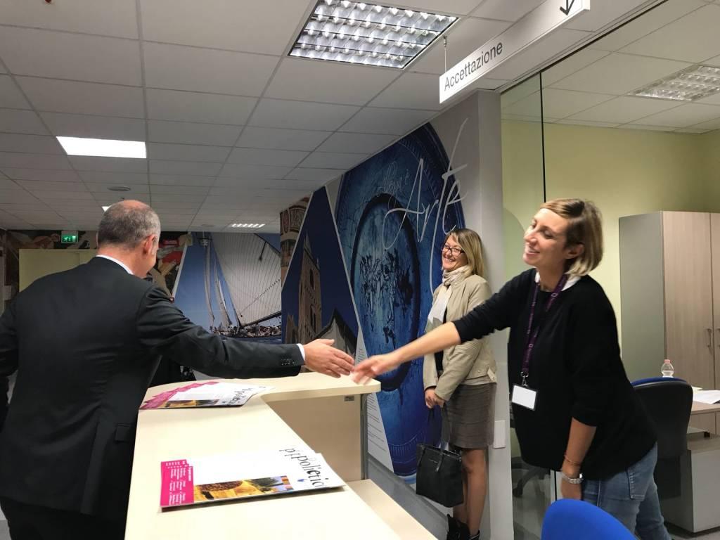 Visita sindaco Cangiano reparto Ortopedia Albenga