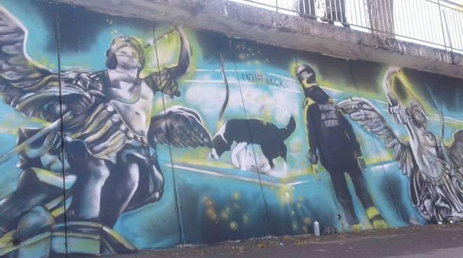 Amatrice, un murales per Camilla