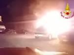 auto in fiamme cep
