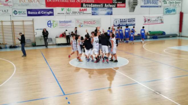 Finale Basket Under 14 primi in classifica!!!!