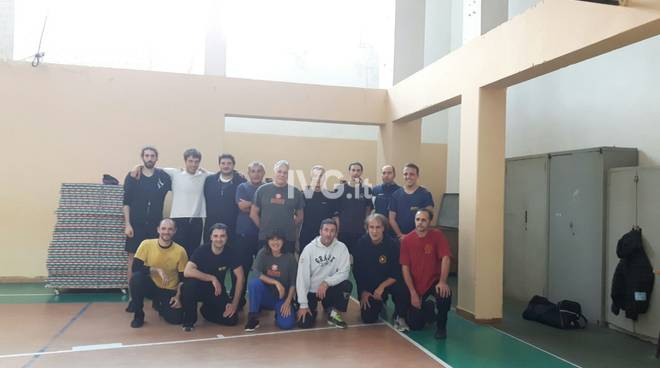 I partecipanti allo stage di kung Fu stile Wing Chun a Finale Ligure