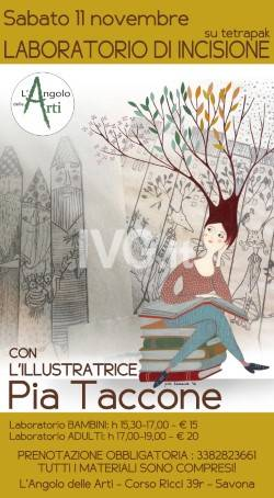 Workshop di incisione con l\'illustratrice Pia Taccone