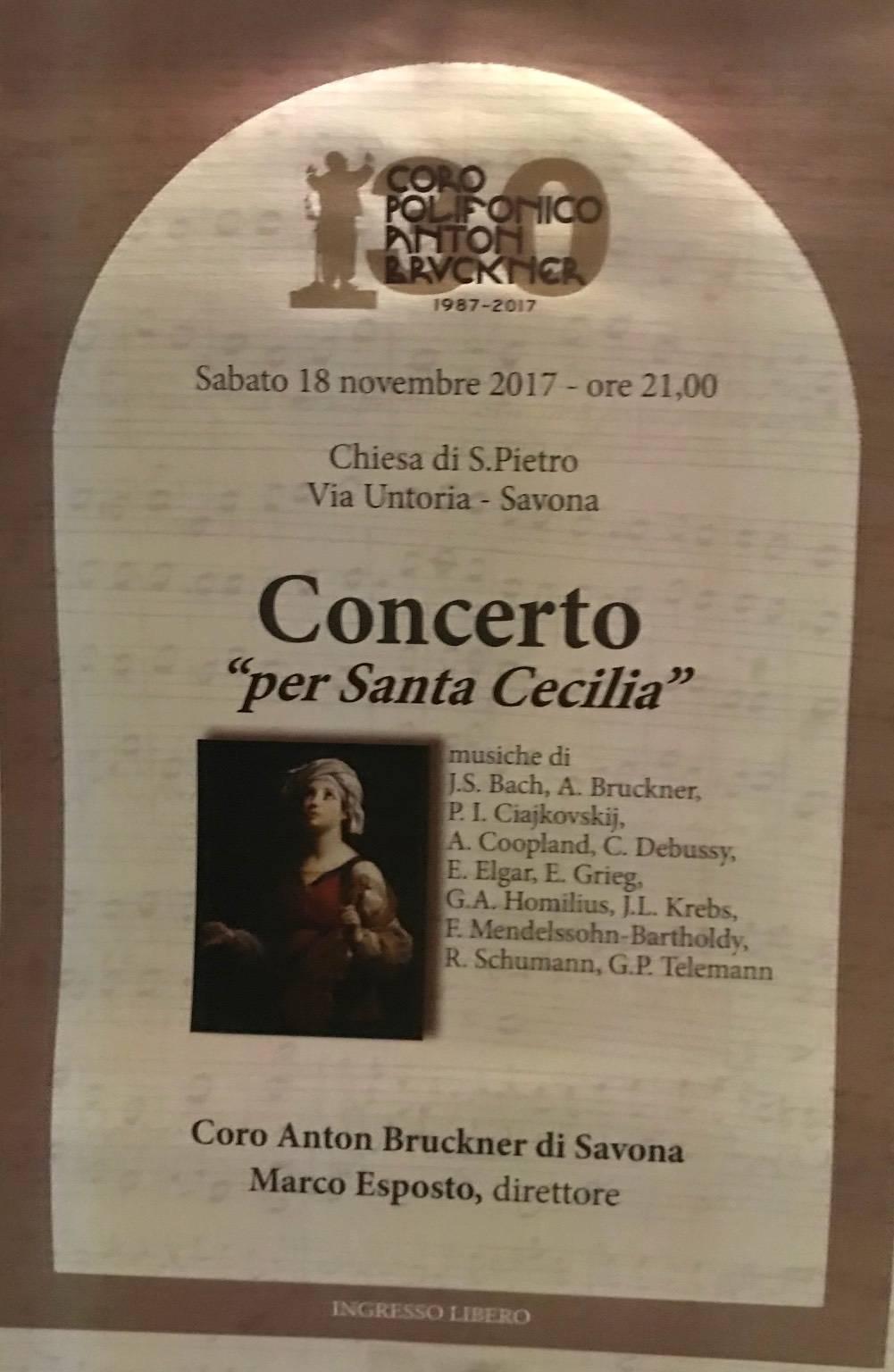Concerto per Santa Cecilia Coro Anton Bruckner