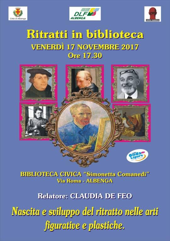 Conferenza Nascita e sviluppo del ritratto nelle arti figurative e plastiche