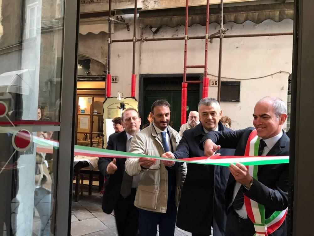 Inaugurazione biglietteria Tpl Albenga