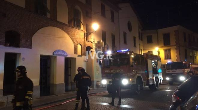 incendio tetto piazza Italia Millesimo