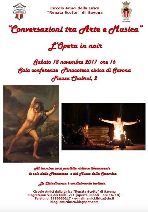 L'Opera in noir capolavori d'arte Palazzo Gavotti