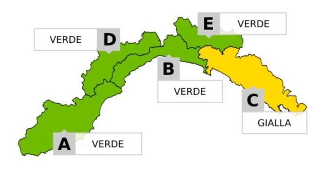 Maltempo, allerta gialla per piogge da Portofino a La Spezia