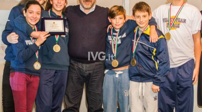 Volley: Under 12 Mix, Under 14 Maschile e Francesco Testa i premiati allo Sportivo dell\'anno 2017