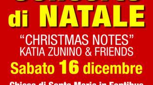"Concerto di Natale  \""CHRISTMAS NOTES\"" -  KATIA ZUNINO & Friends"
