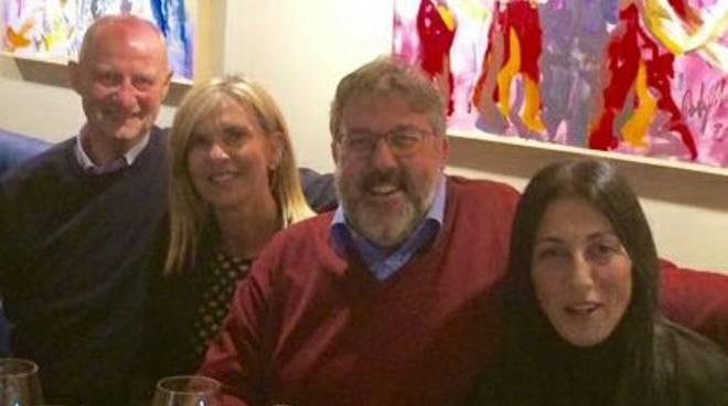 Ex moglie Melgrati a cena con Canepa