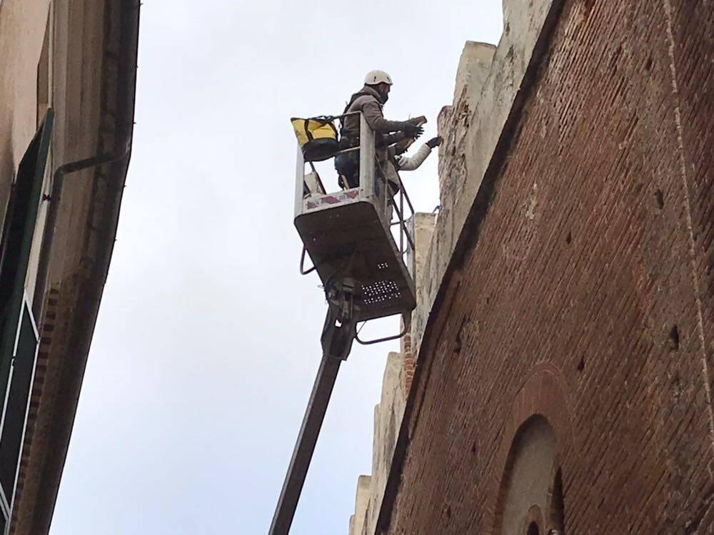 Lavori in corso Palazzo Vecchio Albenga