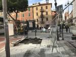 Lavori in piazza del Popolo Albenga