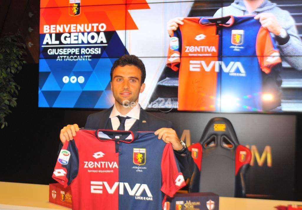 Presentazione di Giuseppe Rossi nuovo giocatore del Genoa