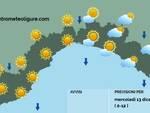 previsioni meteo 13 dicembre