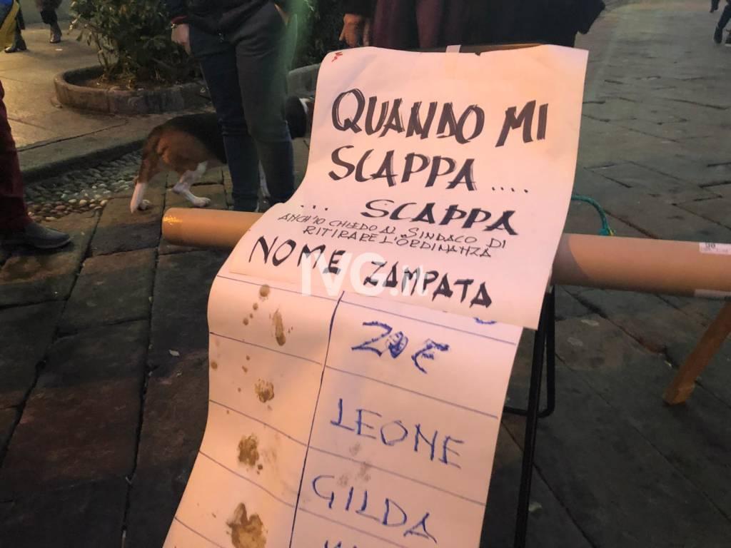 protesta ordinanza cani