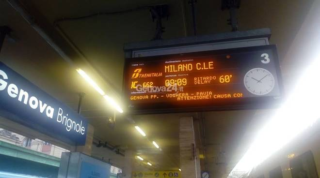 ritardi treno allerta genova