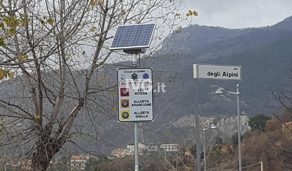A Loano, Boissano e Toirano arrivano i pannelli informativi sull'allerta meteo