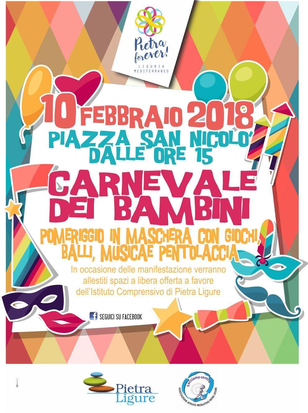 Carnevale dei Bambini Pietra Ligure 2018