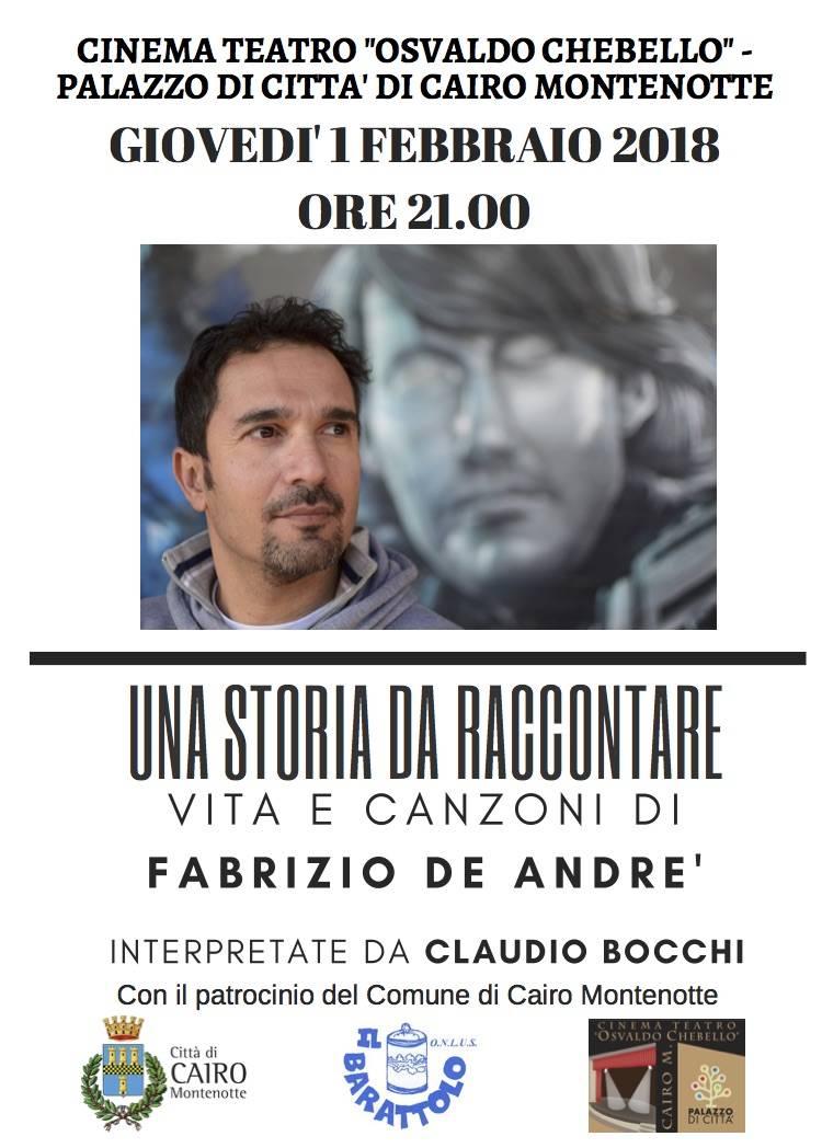 Claudio Bocchi Fabrizio De Andrè Cairo Montenotte