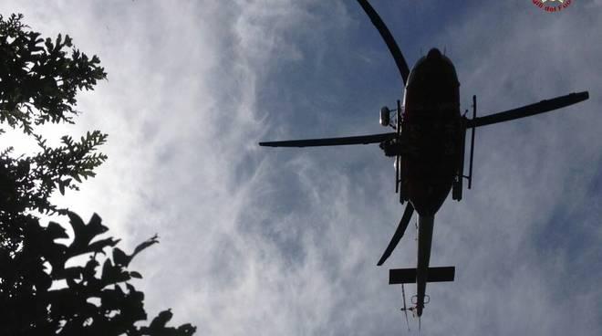 Elicottero Vigili Fuoco Soccorso Biker