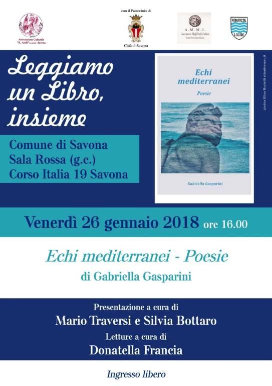 Echi mediterranei libro poesie Gabriella Gasparini