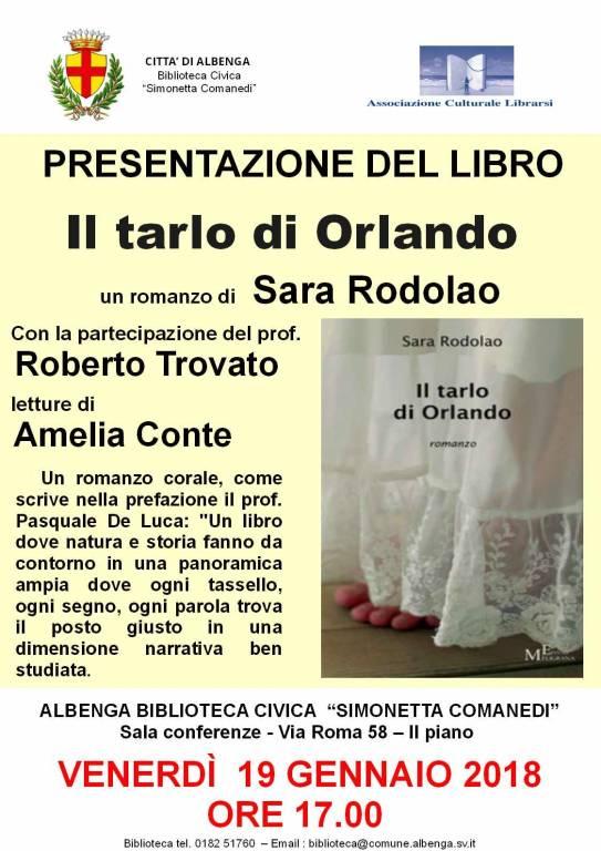 Il Tarlo di Orlando romanzo Sara Rodolao