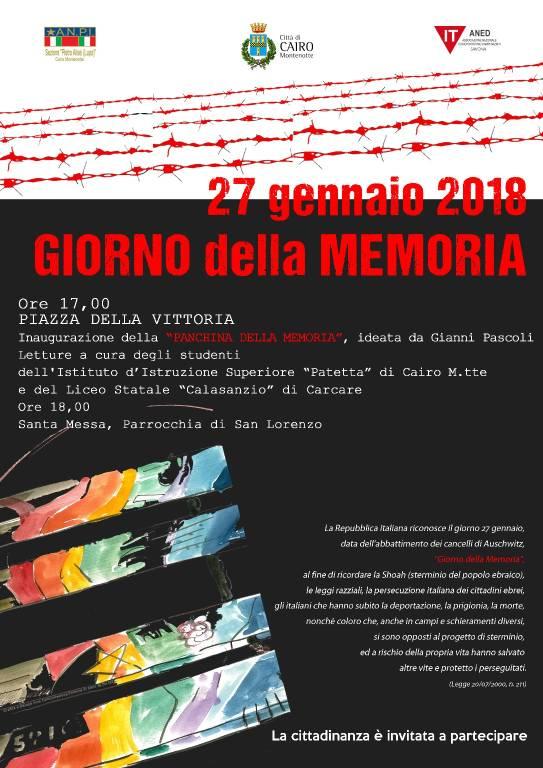 Inaugurazione Panchina della Memoria