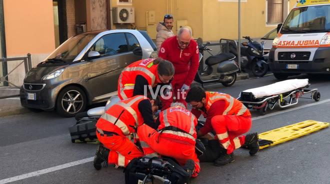 Incidente scooterista Corso Italia pietra Ligure