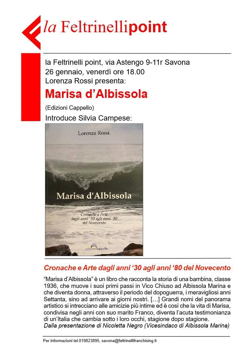 """""""Marisa d'Albissola"""" presentazione libro"""
