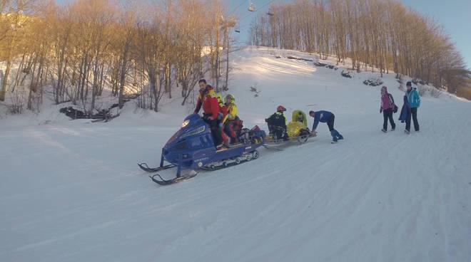 Motoslitta soccorso alpino