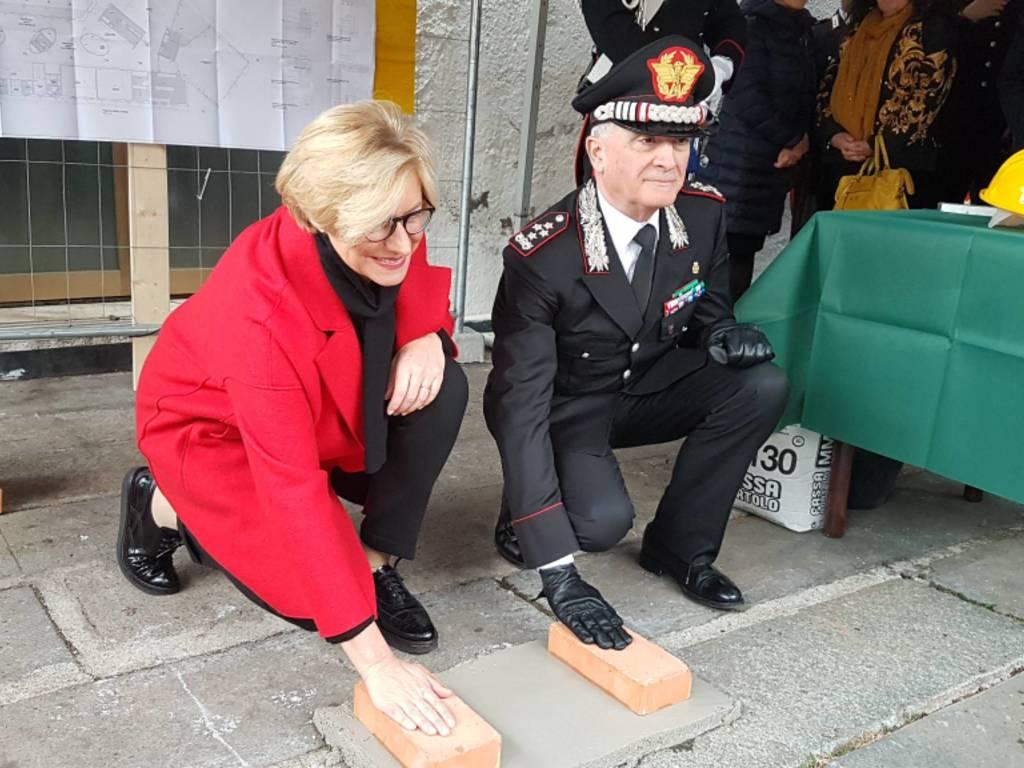 Prima pietra asilo carabinieri Pinotti del sette