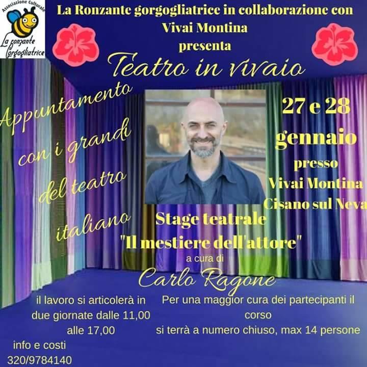 Stage teatro attore Carlo Ragone