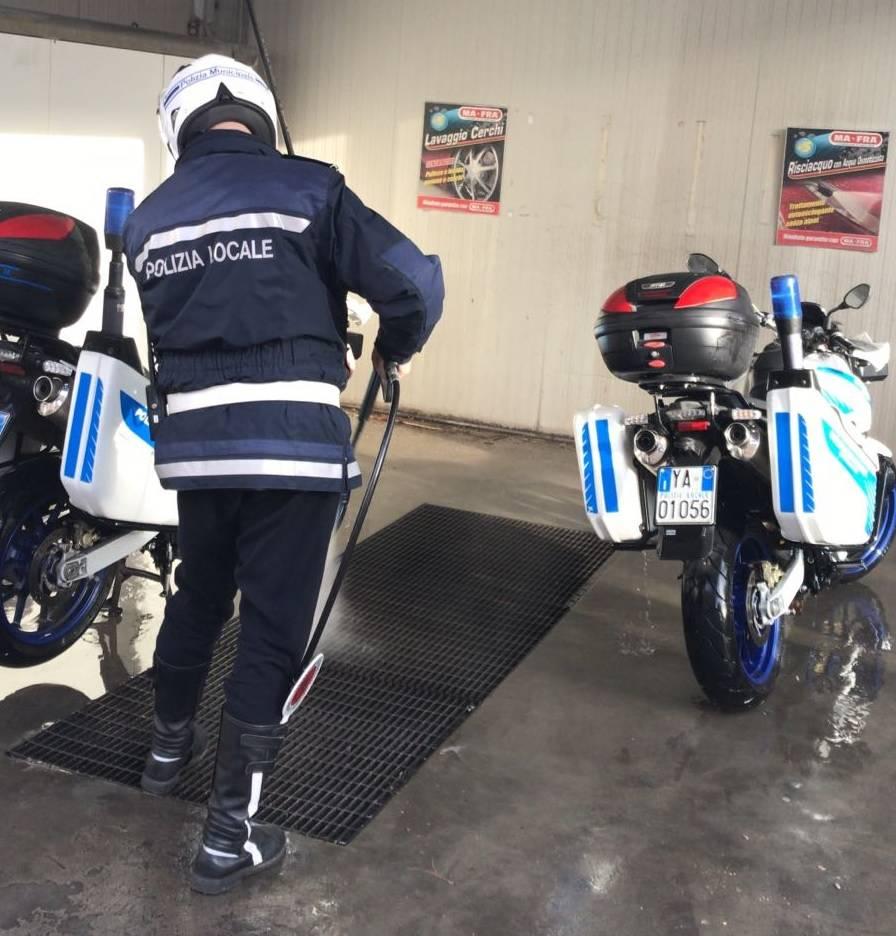 Loano Motociclisti Polizia Municipale