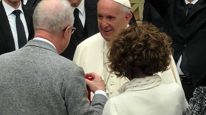 Albisola, Luca Ottonello all'udienza generale con Papa Francesco