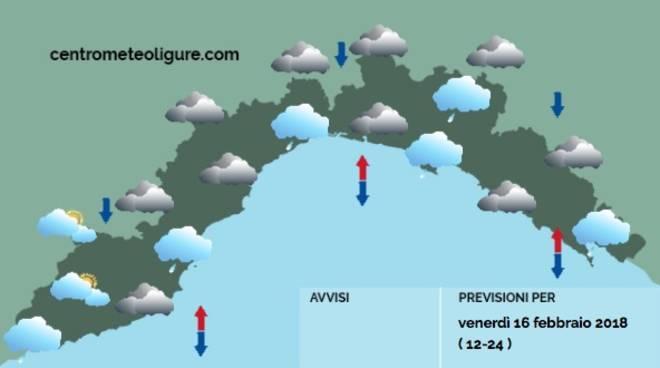 Il meteo di domani, 17 febbraio