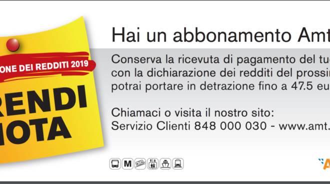 Amt, Gli Abbonamenti Si Possono Detrarre Dalle Tasse: Ecco Come Fare    Genova 24