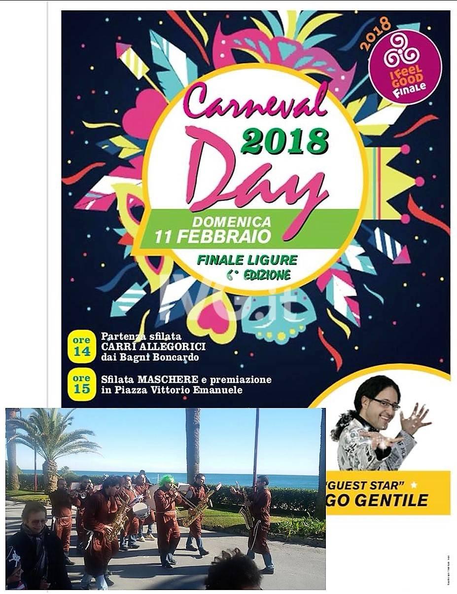 "Frastuono Marching Band al ""Carnevale Day 2018"" di Finalmarina"