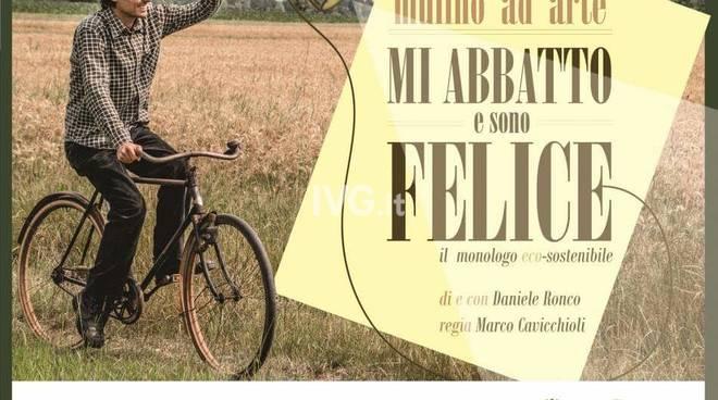 """Causa maltempo  rinviato lo spettacolo ai Cattivi Maestri di Savona: """"Mi abbatto e sono felice\"""""""