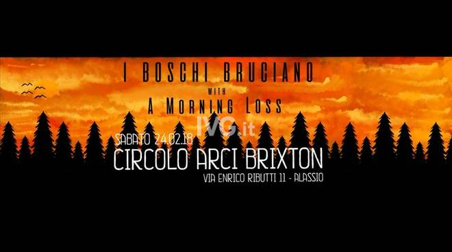 Stasera al Circolo ARCI Brixton  di Alassio: I Boschi Bruciano / A Morning Loss - Live
