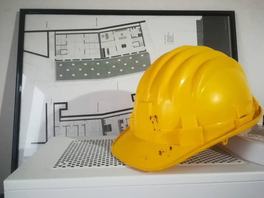 casco caschetto lavoro edilizia