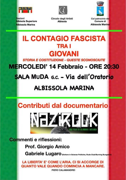 """Conferenza """"Il contagio fascista tra i giovani"""""""