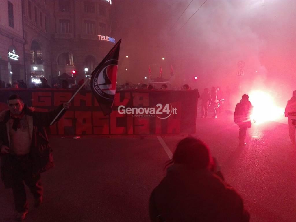 corteo antifascista 3 febbraio